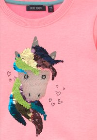 Blue Seven - KIDS NEON FLIP UNICORN  - Sweatshirt - lachs - 3