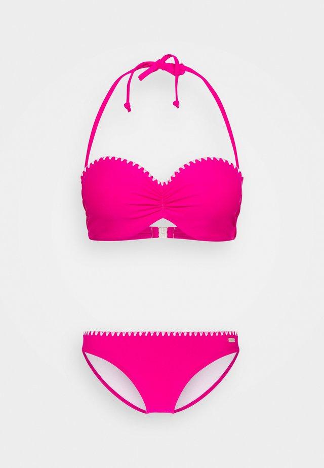 WIRE BANDEAU SET - Bikini - pink
