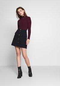 New Look - Topper langermet - dark burgundy - 1