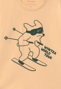 TINYCOTTONS - SKIING DOG TEE UNISEX - Top s dlouhým rukávem - cream/dark green - 2