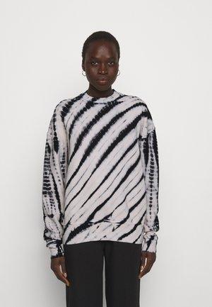 MODIFIED RAGLAN TIE DYE - Sweater - black/off-white