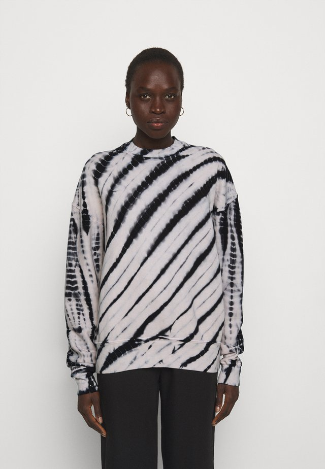 MODIFIED RAGLAN TIE DYE - Sweatshirt - black/off-white