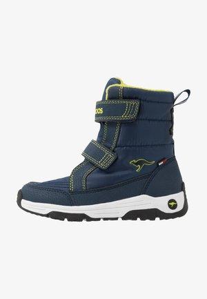 K-MAJOR V RTX - Boots - dark navy/lime