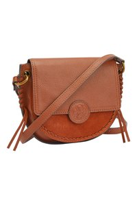 Next - TAN LEATHER STITCH AND EMBOSSED DETAIL SADDLE BAG - Torba na ramię - beige - 2