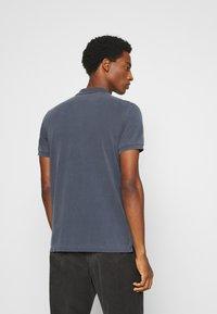 Marc O'Polo - SHORT SLEEVE RIB DETAILS - Polo shirt - total eclipse - 2