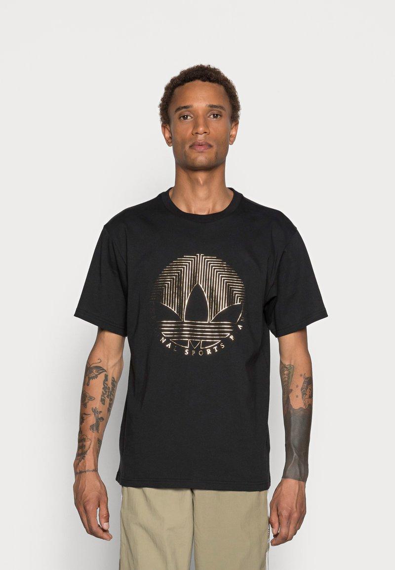 adidas Originals - DECO TREFOIL - T-shirt con stampa - black