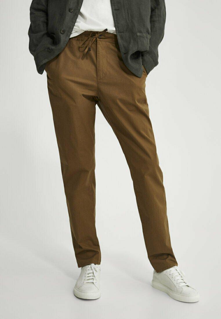 Massimo Dutti - Trousers - ochre