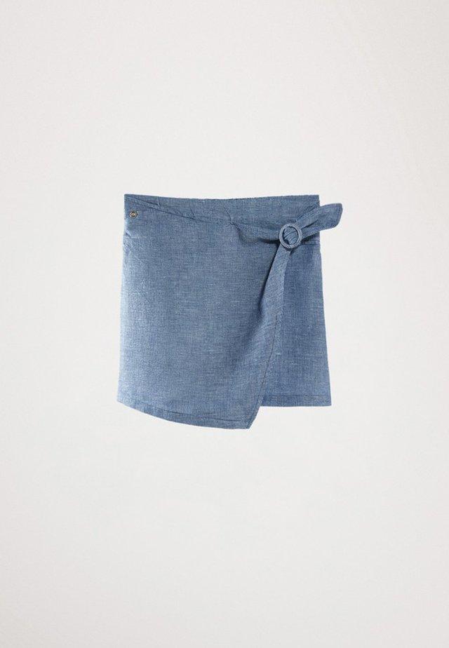 MIT STREIFEN UND SCHNALLE  - Gonna a portafoglio - light blue