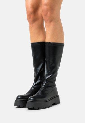ALBIG - Platform boots - black