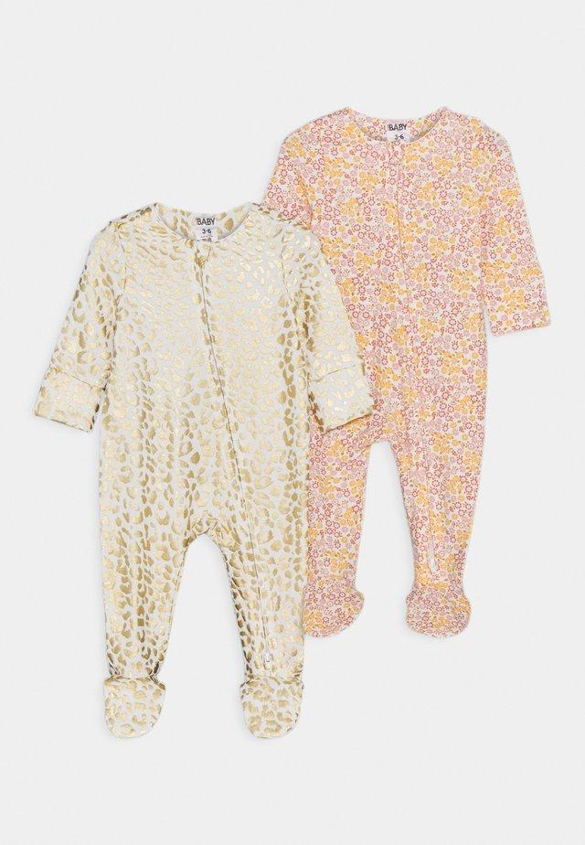 LONG SLEEVE ZIP ROMPER 2 PACK  - Pyjamas - multicolor