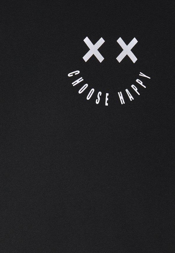 YOURTURN T-shirt z nadrukiem - black/czarny Odzież Męska MLQZ