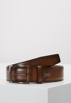 REGULAR BELT - Belt business - cognac