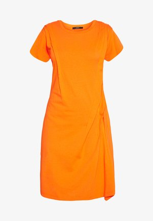 D-ATRIX DRESS - Jersey dress - orange