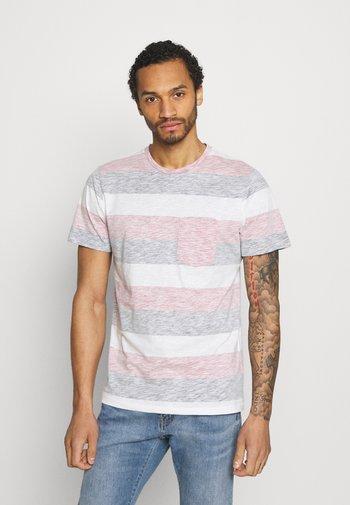 JJSTRIPE TEE CREW NECK - Print T-shirt - slate rose