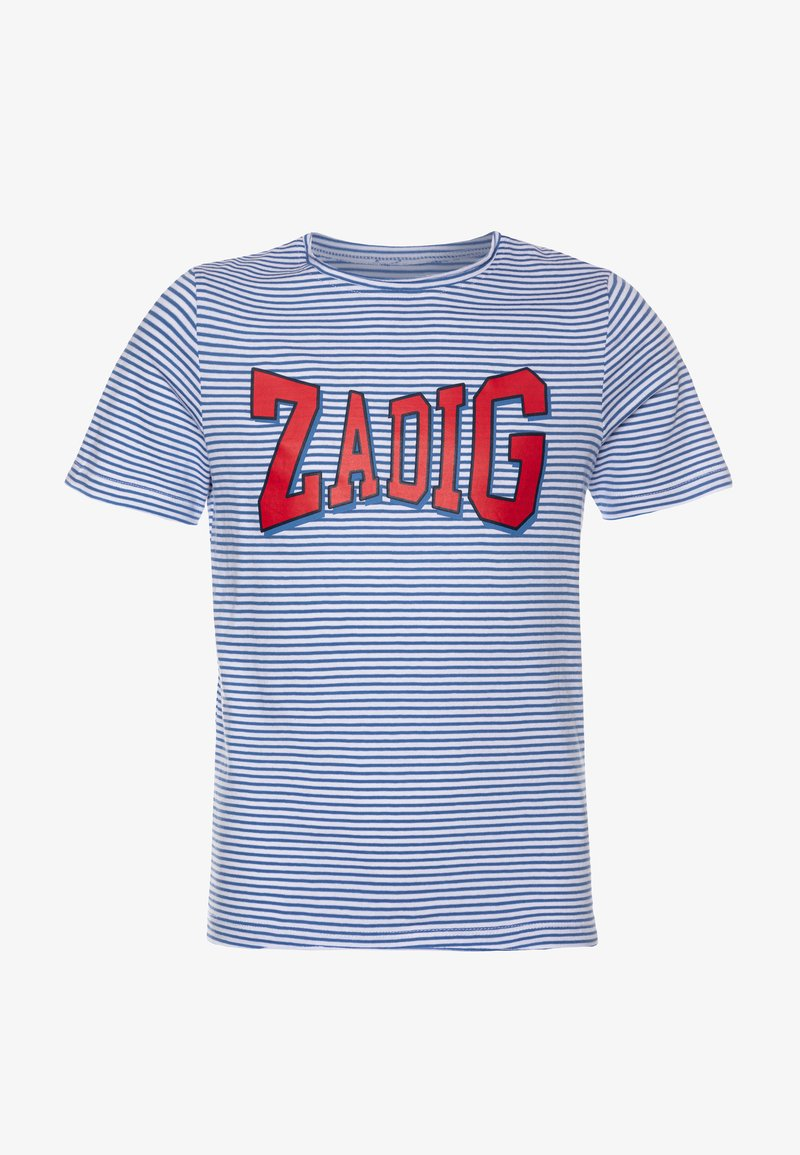 Zadig & Voltaire - SHORT SLEEVES - Print T-shirt - white/blue