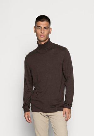 ROGAN  ROLL NECK  - Stickad tröja - seal brown