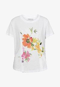 Desigual - TEE FRONT PLEATS GARDENS - T-shirts print - white - 4