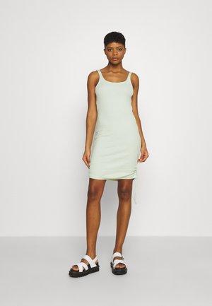 NMSTINE ROUCHING DRESS - Jersey dress - fog green