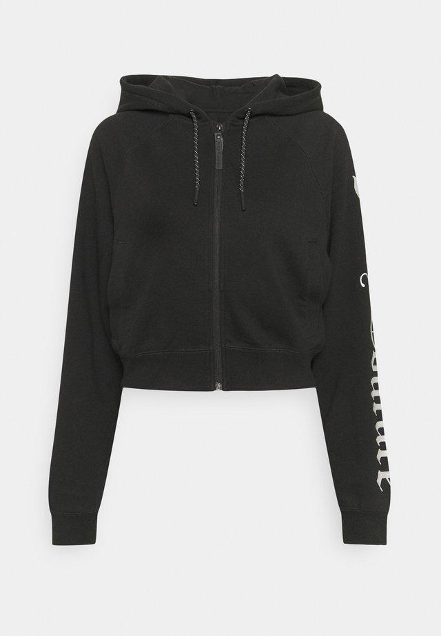 GINA HOODIE - veste en sweat zippée - black