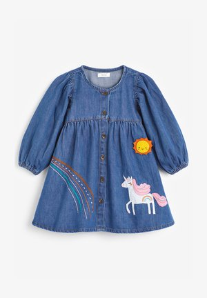 UNICORN APPLIQUÉ - Denimové šaty - blue denim
