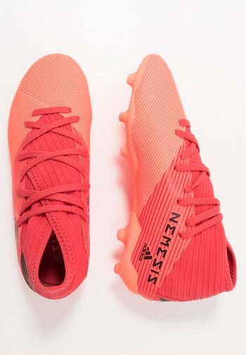 NEMEZIZ 19.3 FG - Moulded stud football boots - signal coral/core black/red