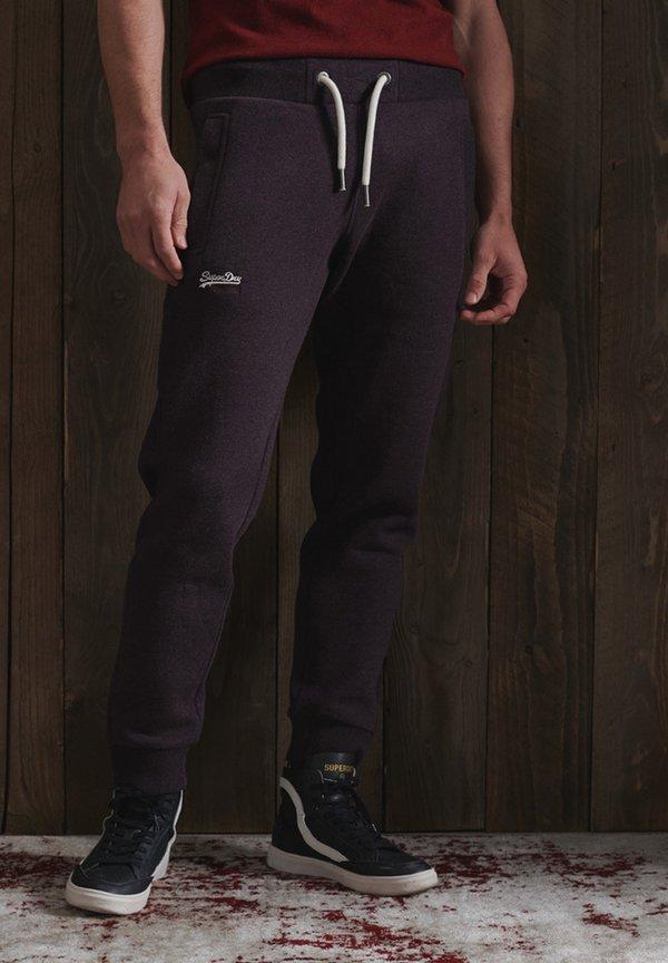 Superdry ORANGE LABEL - Spodnie treningowe - autumn blackberry marl/fioletowy Odzież Męska JHBX