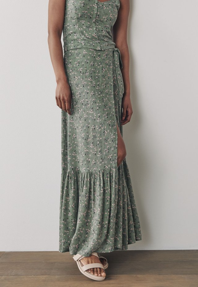 Plisovaná sukně - khaki