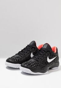 Nike Performance - AIR ZOOM CAGE - Clay court tennis shoes - black/white/bright crimson - 2