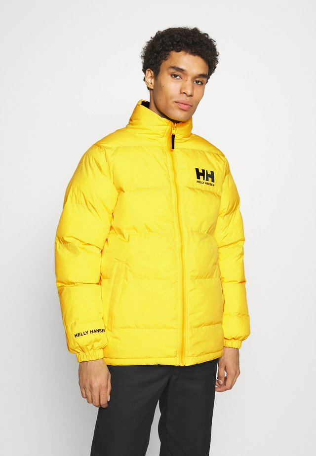 REVERSIBLE PUFFER JACKET - Veste d'hiver - young yellow