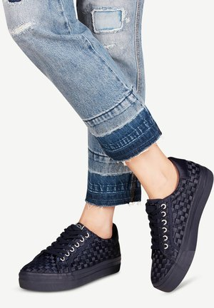 WOMS LACE-UP - Trainers - navy