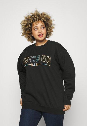 CHICAGO OVERSIZED CREW - Sweatshirt - black