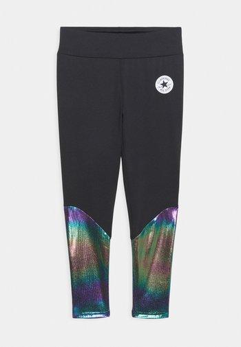 CHUCK PATCH SHINY  - Leggings - Trousers - black