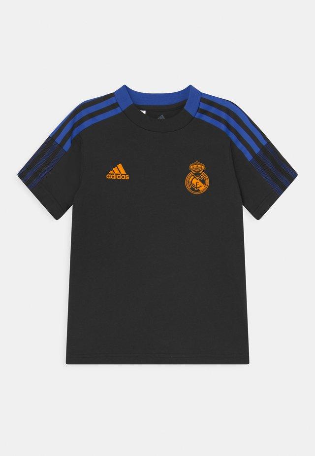 REAL MADRID TEE UNISEX - Fanartikel - black