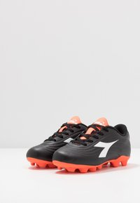 Diadora - PICHICHI 2 MD - Moulded stud football boots - black/white/red fluo - 3