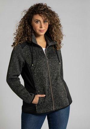 Fleece jacket - dark grey melange