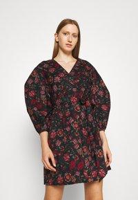 Diane von Furstenberg - BARBE DRESS - Day dress - punk medium black - 0