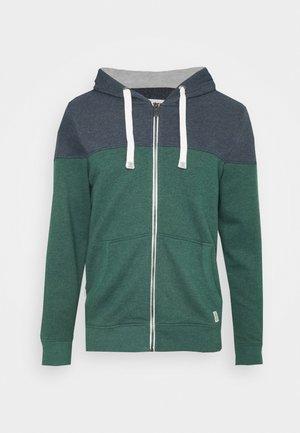 COLORBLOCK ZIPPER JACKET - Zip-up hoodie - stroke green