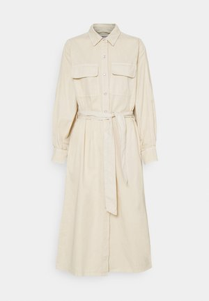 LEILAN DRESS - Denim dress - beige