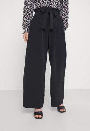 PCFARRAH WIDE PANTS - Trousers - black