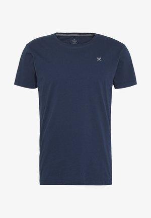 LOGO TEE - T-shirt - bas - navy/grey