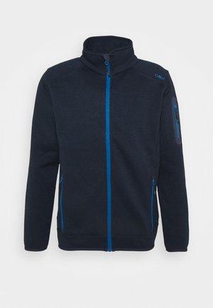 MAN JACKET - Fleecová bunda - black blue