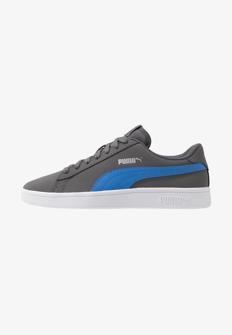 Puma - SMASH  - Baskets basses - castlerock/palace blue/silver/white