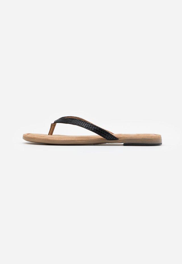 SLIDES - Sandály s odděleným palcem - black