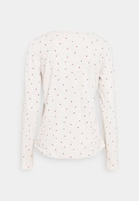 Lindex - NIGHT TOP X MAS JENNIE - Pyjama top - light beige melange - 1