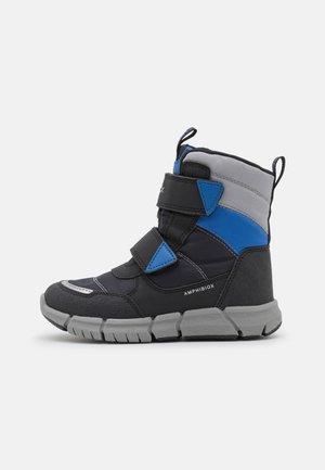 J FLEXYPER BOY ABX - Bottes de neige - black/royal