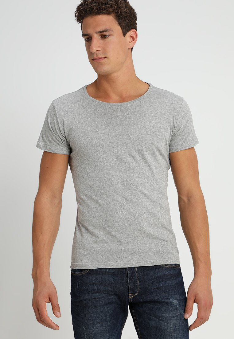 Key Largo MILK - Basic T-shirt - silver melange Ia76N