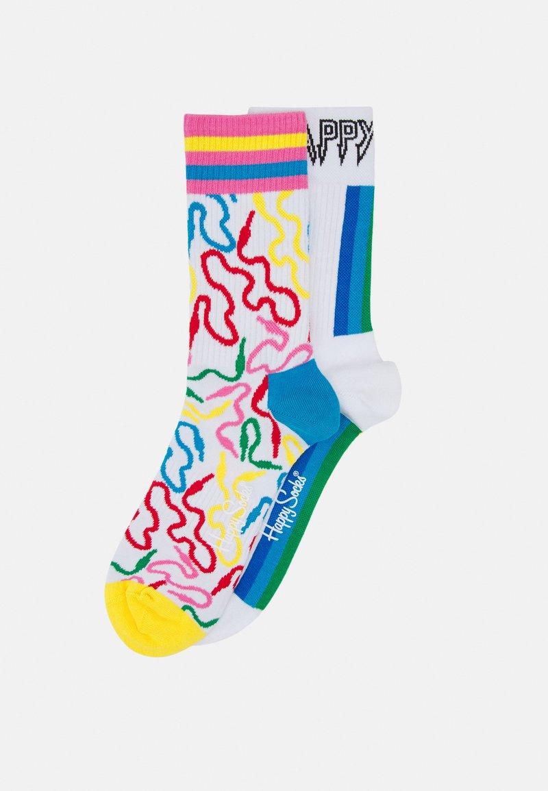 Happy Socks - WIRE 3/4 CREW SOCK/COLOUR STRIPE 3/4 CREW SOCK UNISEX 2 PACK - Calcetines - multi-coloured