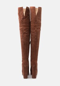 Even&Odd Wide Fit - LEATHER - High heeled boots - rust - 3