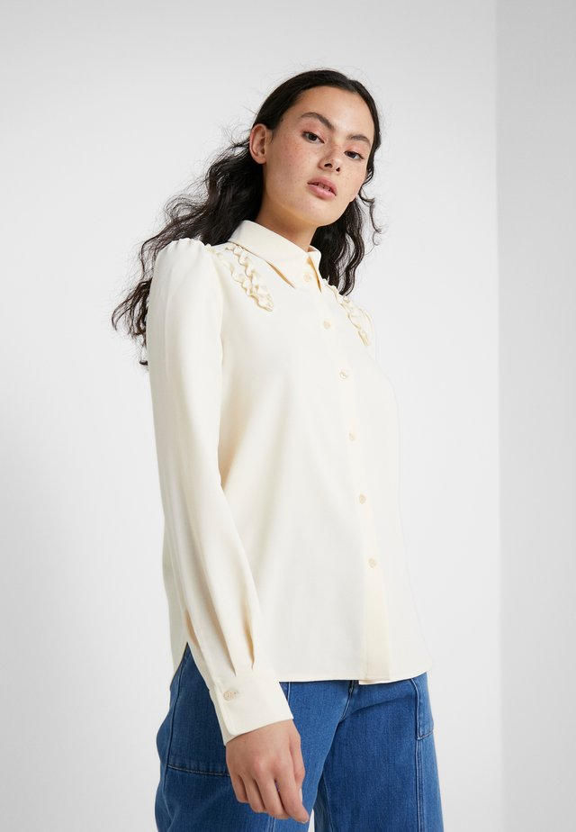 Button-down blouse - natural white