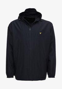 ZIP THROUGH HOODED JACKET - Summer jacket - dark navy